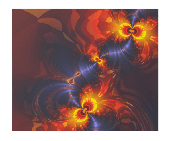 Butterfly Eyes, Abstract Gold Violet Wings Fractal | Wrapping Paper | Flat