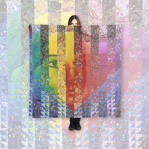 Conundrum I Abstract Rainbow Woman Goddess Collage | Large Scarf