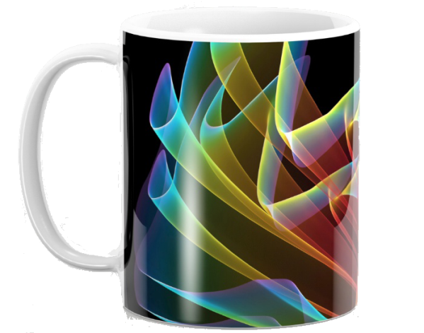 Dancing Northern Lights, Abstract Summer Sky Fractal | Mug