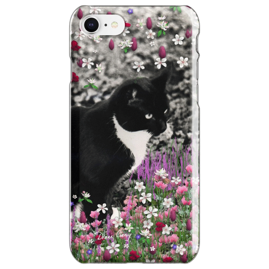 Sold! ❤ Freckles in Flowers II – Tuxedo Cat iPhone Case