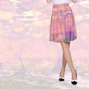 Glorious Skies, Abstract Pink Yellow Dream | A-Line Skirt