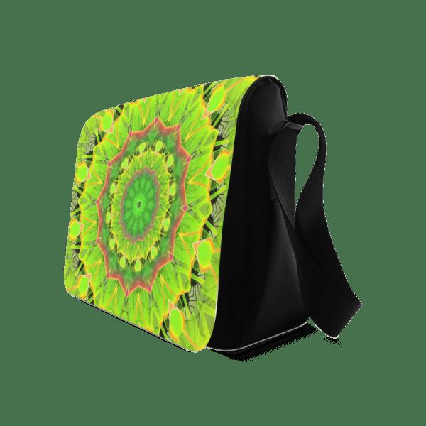 Golden Green Foliage Ferns Abstract Summer Days | Messenger Bag