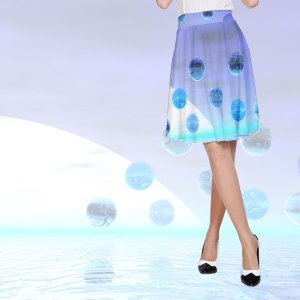 Moonlight Wonder, Abstract Journey to the Unknown | A-Line Skirt