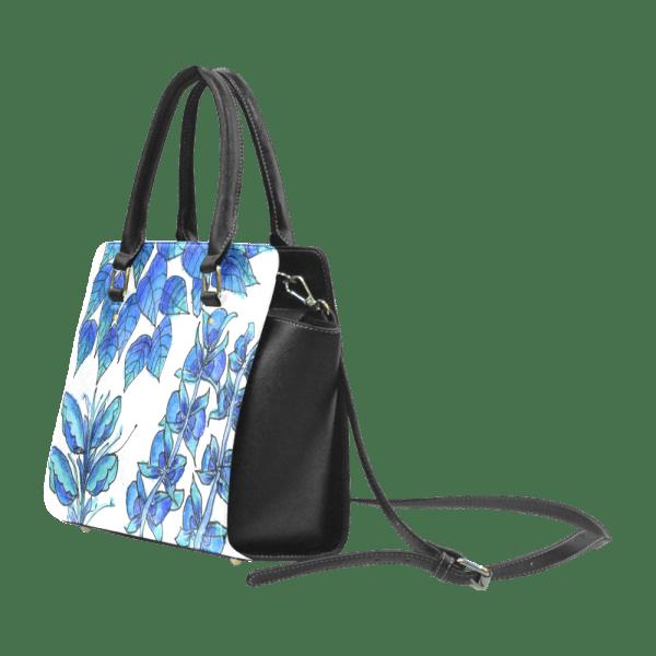 Pretty Blue Flowers, Aqua Garden Zendoodle | Classic Shoulder Handbag