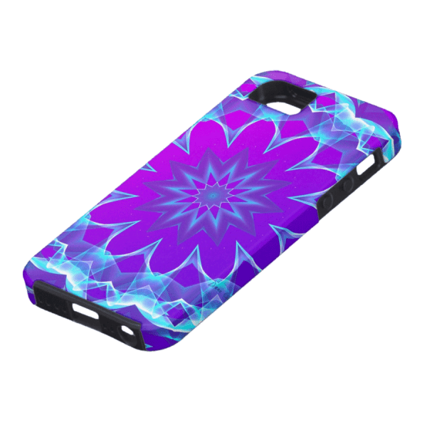 Abstract Violet Purple Glow Mandala, Psychedelic Stars | iPhone SE/5/5s Case | DianeClancyMandalas @Zazzle