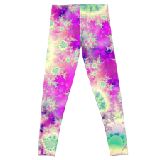 Sold! ❤ Raspberry Heart Star, the Abstract Fractal Heart Beat of Love | Leggings | DianeClancy | @ RedBubble
