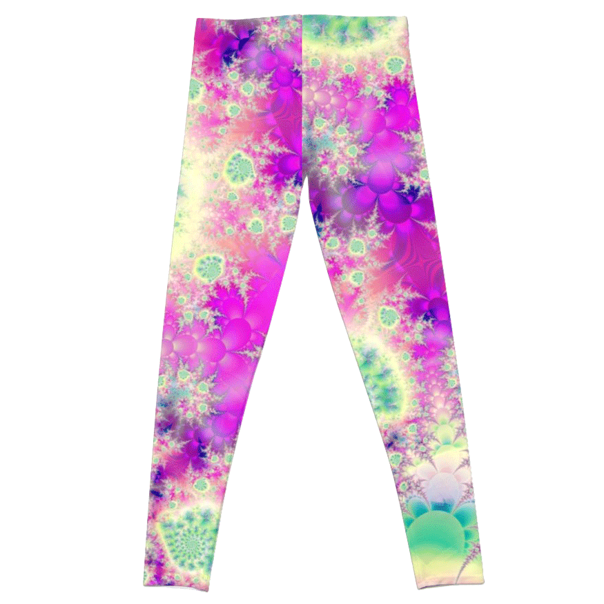 Sold! ❤ Raspberry Heart Star, the Abstract Fractal Heart Beat of Love   Leggings   DianeClancy   @ RedBubble