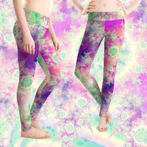 Raspberry Heart Star, the Heart Beat of Love | Leggings