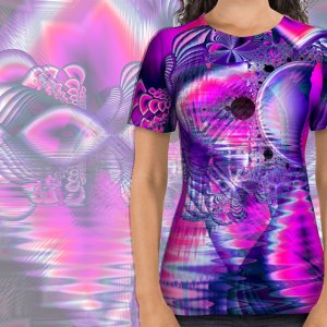 Rose Crystal Palace, Abstract Violet Love Dream | All Over Print Shirt