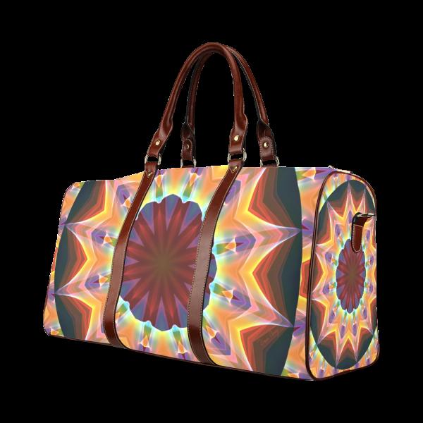 Santa Fe Summer Night, Abstract Warm Romance Waterproof Travel Bag/Large (Model 1639)