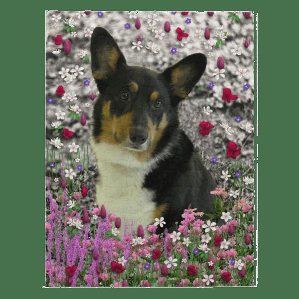 "Sebastian Pembroke Corgi in Flowers 8"" x 10"" Jigsaw Puzzle | DianeClancy @ Zazzle title=Sebastian the Welsh Corgi in Flowers 8"" x 10"" Jigsaw Puzzle"