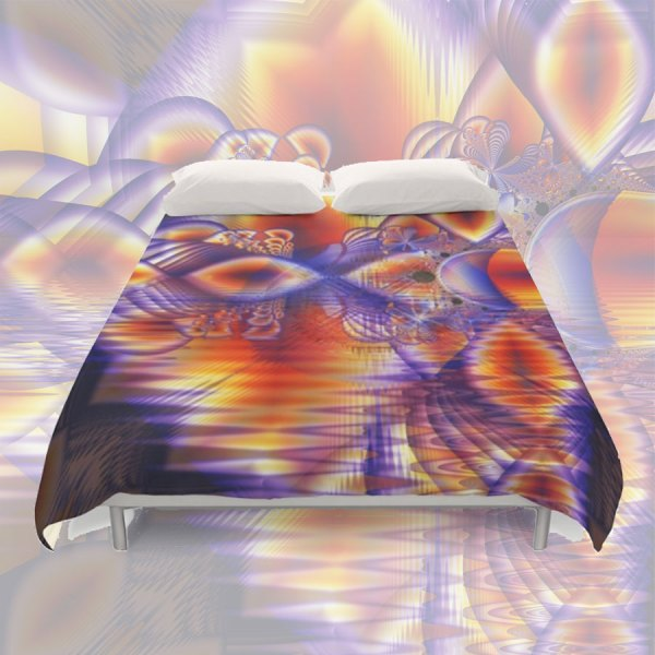 Winter Crystal Palace, Abstract Cosmic Dream | Duvet Cover