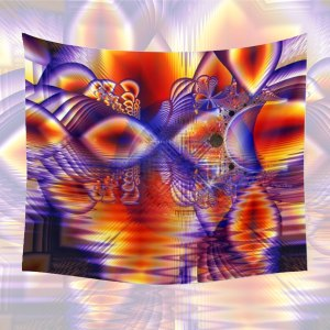 Winter Crystal Palace, Abstract Cosmic Dream   Wall Hanging