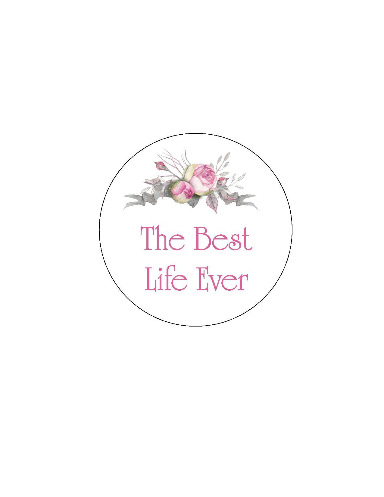 Floral Best Life Ever Sticker  I Shop JW