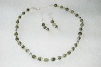 Handmade Serpentine Necklace & Earrings Set  I Shop JW
