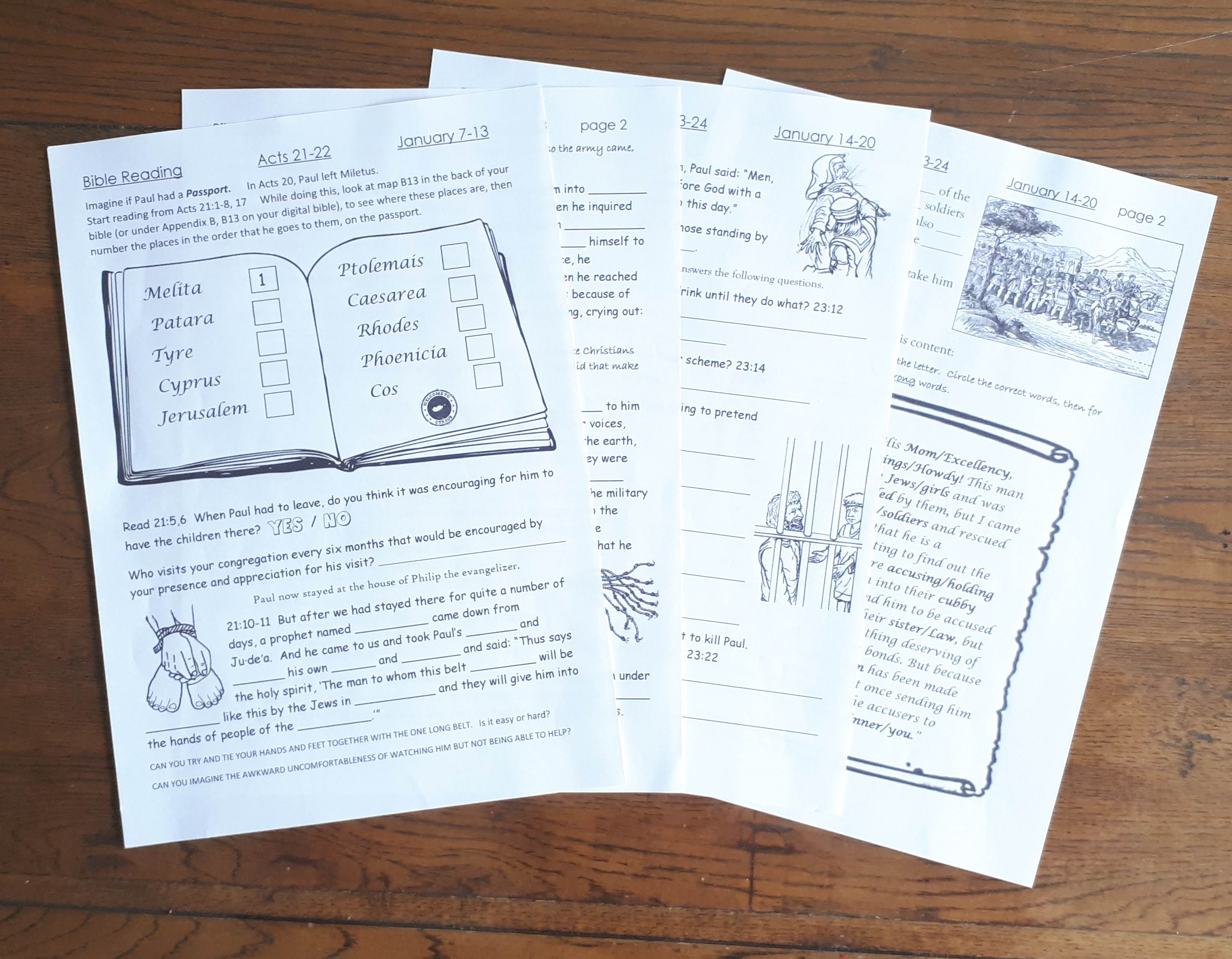 Weekly Bible Reading Jw Worksheets For Kids 6 13yo I Shop Jw