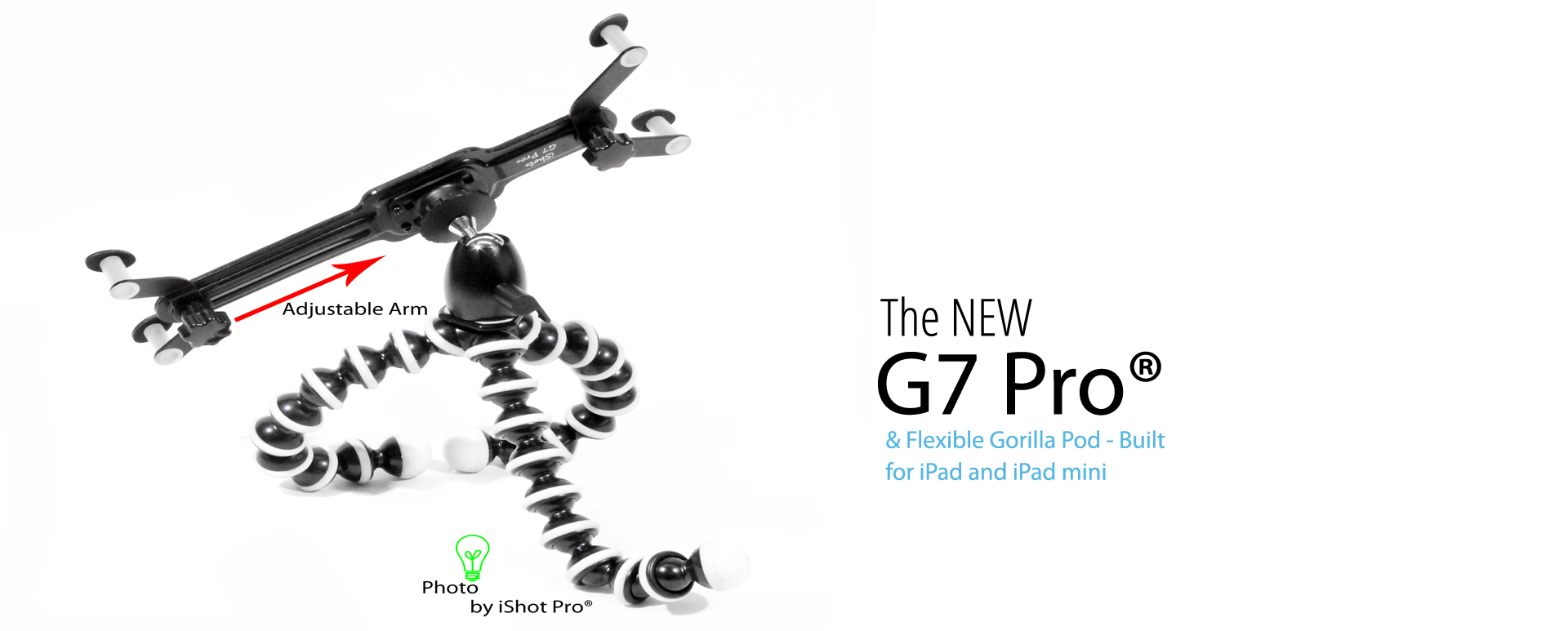 G7 Pro® iPad Tripod Mount with Flexible Gorilla Pod Stand