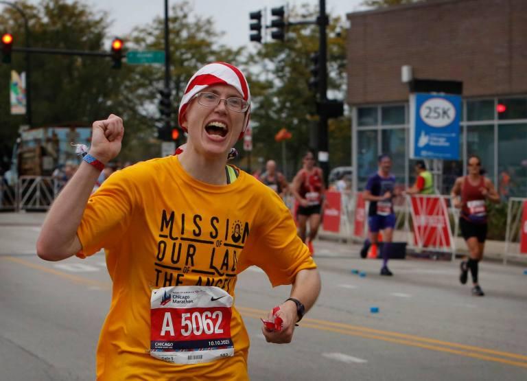 Sr. Stephanie talks Chicago '21 with Runners World