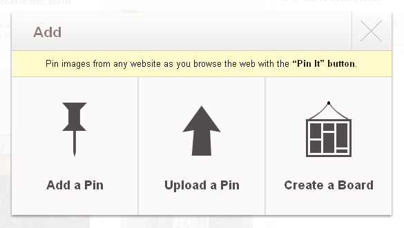 Add pins to your pinboards