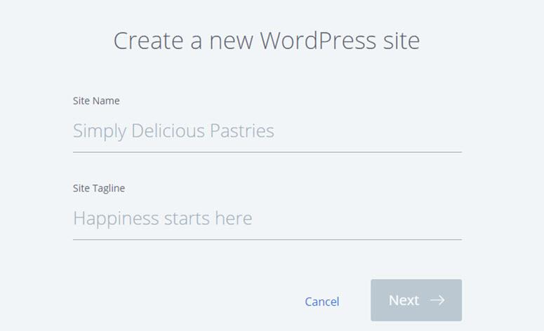 create a new wordpress blog