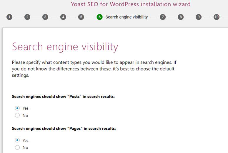 visibilità del motore di ricerca seo