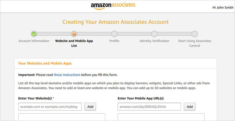 Amazon profile