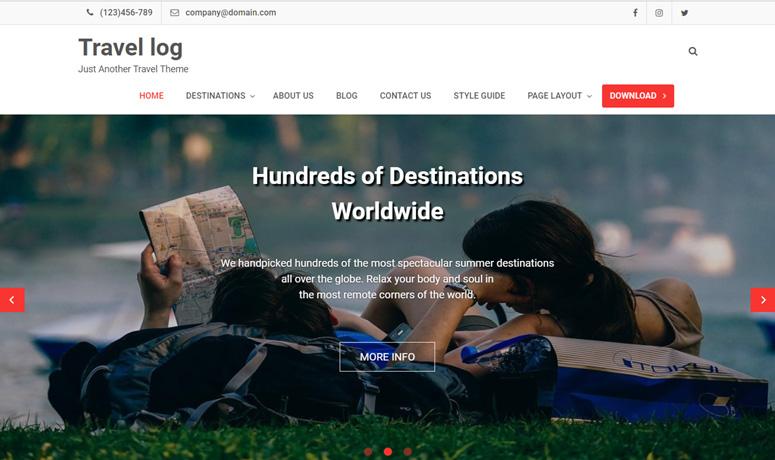 travel log-wordpress-tema