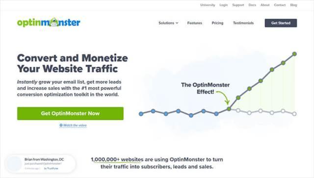 البرنامج المساعد OptinMonster Lead Optimization