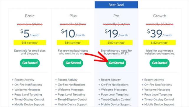 أسعار وخطط TrustPulse