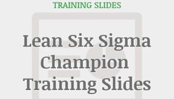 Six Sigma DMAIC Green Belt Training Slides – iSixSigma