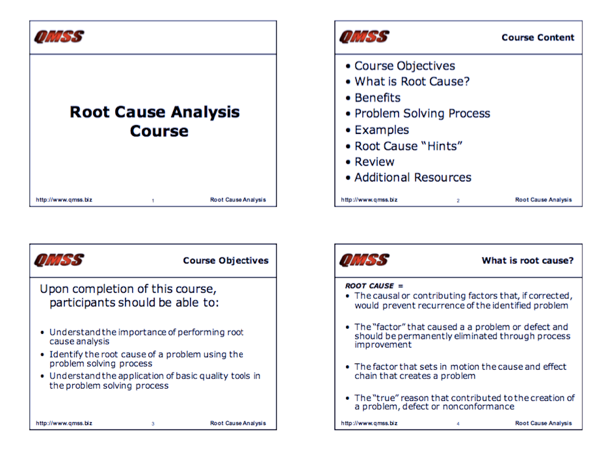 Root Causeysis Course Training Slides Isixsigma