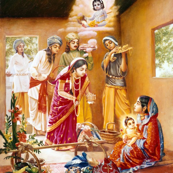 Chaitanya-Maha-Prabhu-with-this-Mother-Srimati-Shachi-Devi