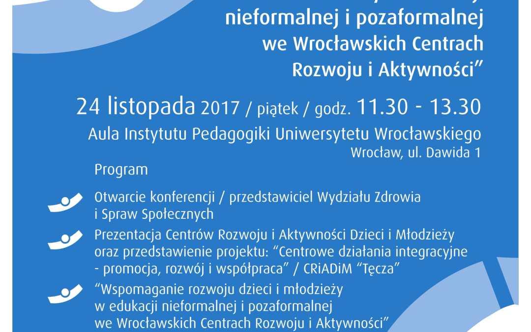 Wspomaganie rozwoju dzieci i młodzieży w edukacji nieformalnej i pozaformalnej we Wrocławskich Centrach Rozwoju i Aktywności