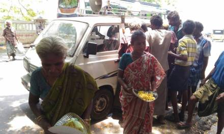 Krsna Prasadam Distribution on the Streets of Puducherry