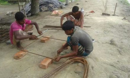 Temple Construction Begins in ISKM Mymensingh, Bangladesh