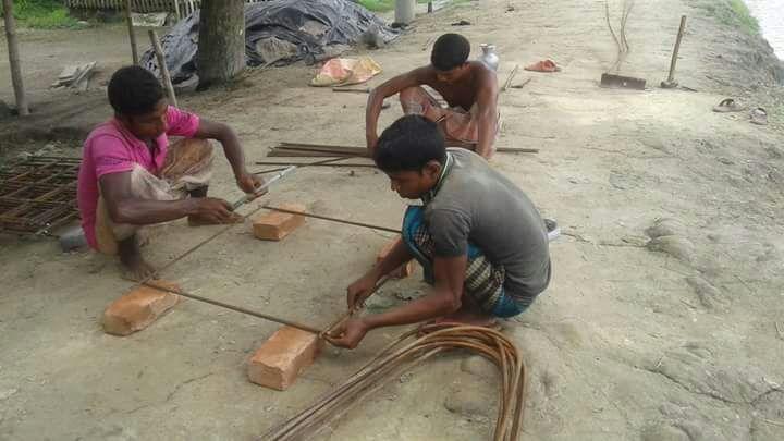 Temple Construction Begins in ISKM Mymensingh, Bangladesh
