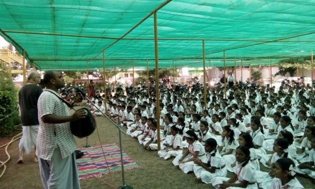 Kirtana and Public Address at Amrita Vidhyalayam School