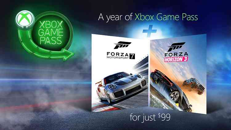 Forza Horizon 3 and Forza Motorsport 7 for free on Xbox Game Pass