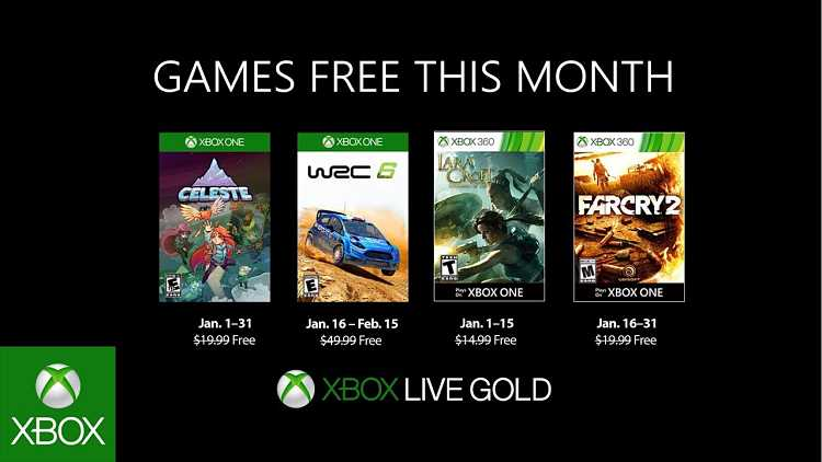 Xbox Live Games With Gold January 2019