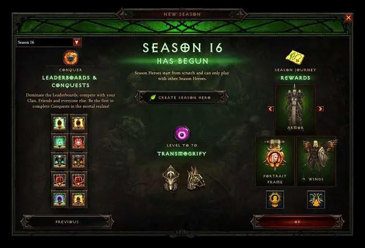 Diablo III Season 16 Released