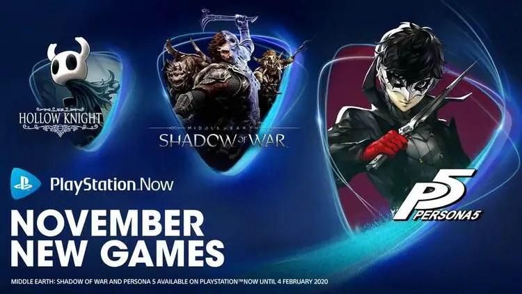 Playstation Now November 2019 New Games