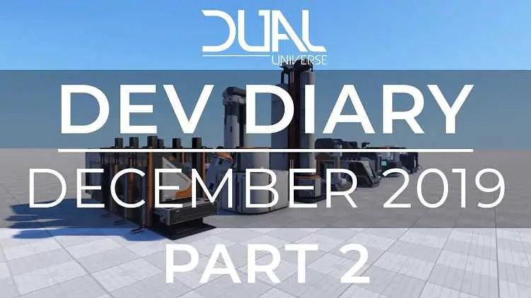 Dual Universe December 2019 Dev Diary