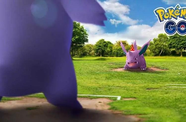 Party hat Nidorina and Gengar raids in Pokémon Go canceled