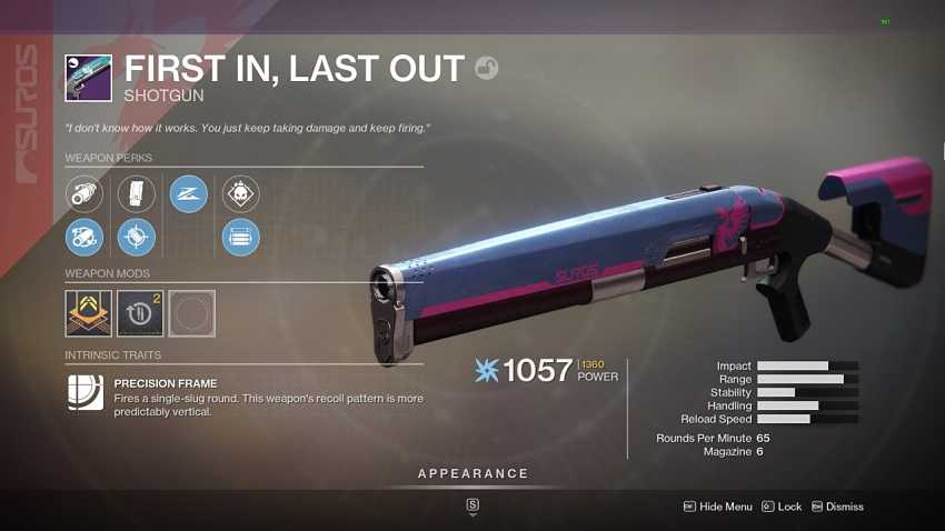 Destiny 2 First In, Last Out Guide – How To Get It And Best Rolls