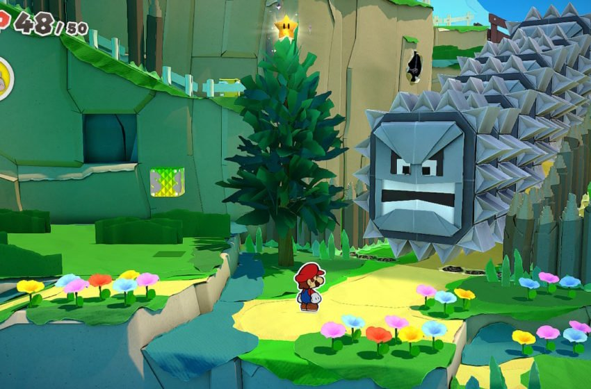 How to get past the thwomps in Paper Mario: The Origami King