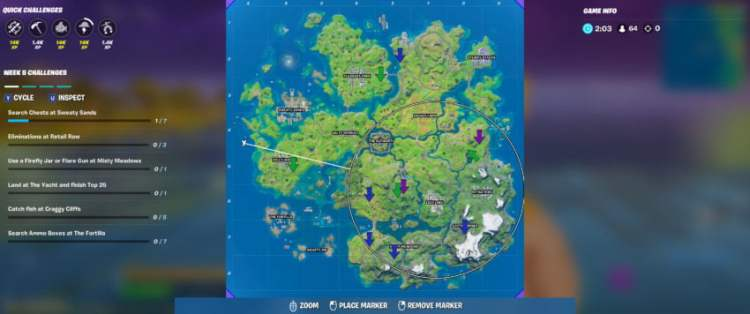 All XP Coin locations in Fortnite Chapter 2 Season 3 Week 6