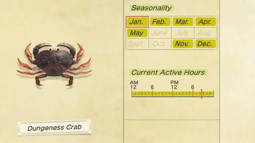 How to catch a Dungeness Crab in Animal Crossing: New Horizons