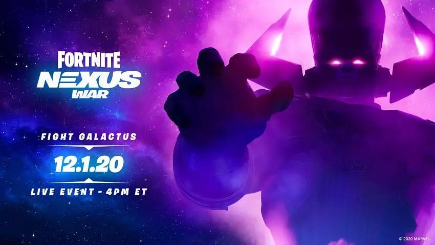 Fortnite Nexus War's Galactus Event Release Date