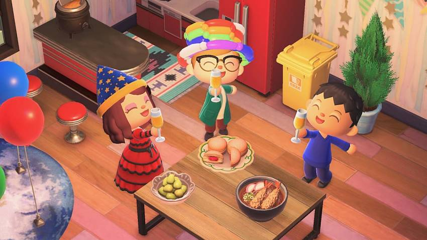 When is the New Year's Countdown in Animal Crossing: New Horizons?