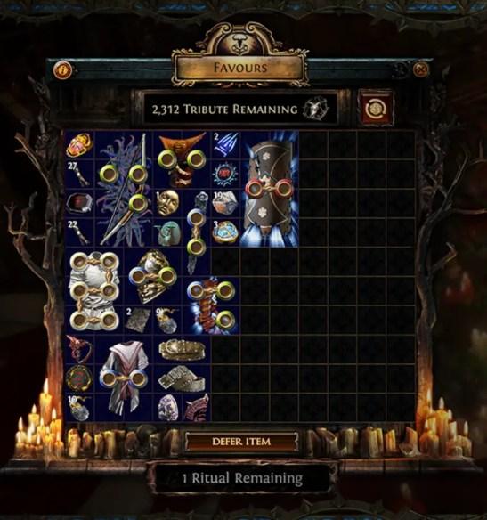 poe ritual league rewards